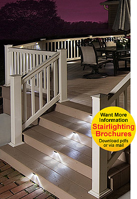 deck lighting kits deck lights outdoor stairs lighting kits