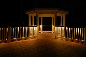 Pvc railing systems pa nj ny low voltage lighting in deck deck railings with low voltage lighting aloadofball Images