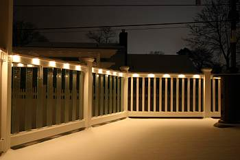Pvc railing systems pa nj ny low voltage lighting in deck railings deck railings with low voltage lighting aloadofball Choice Image