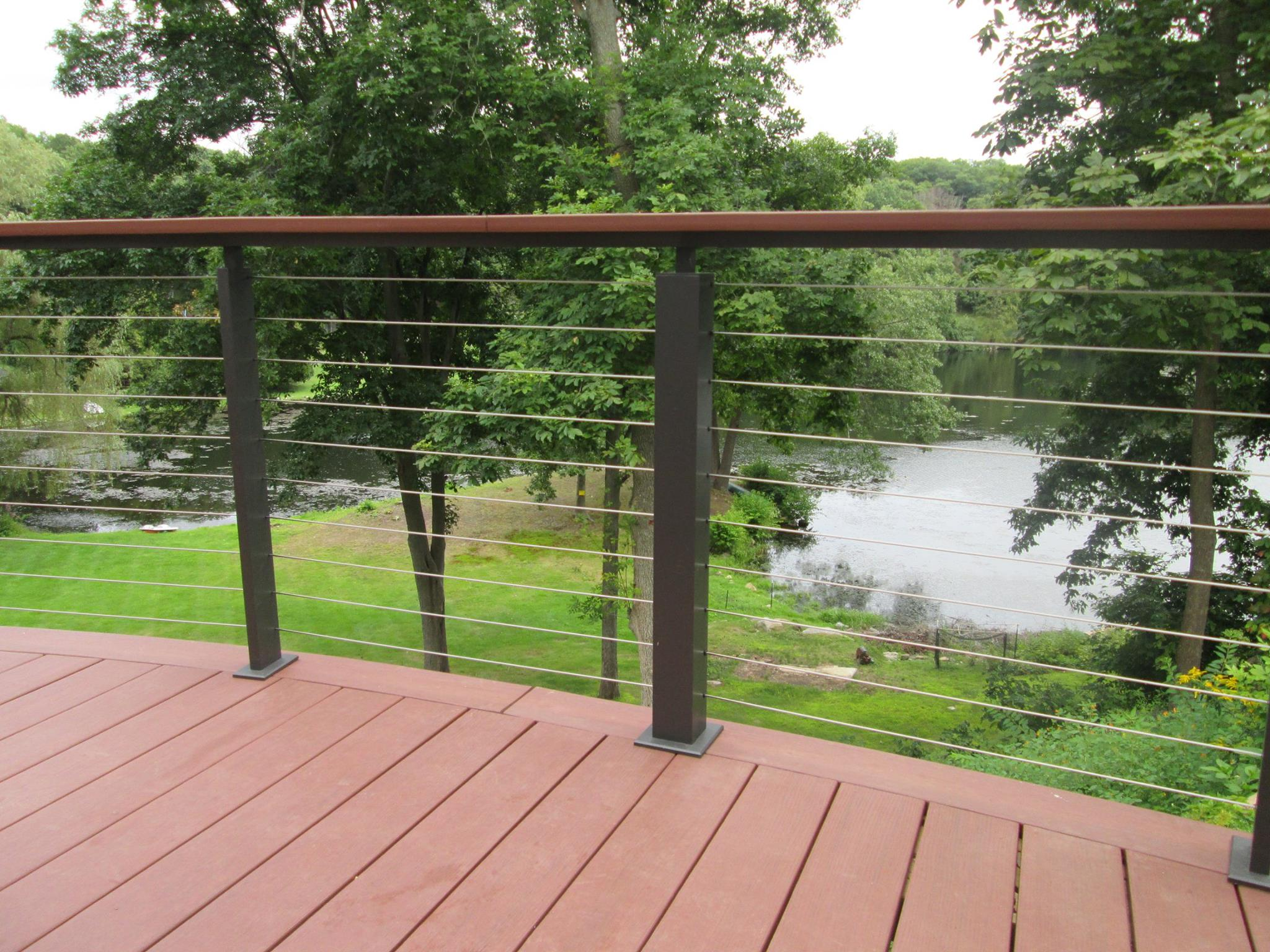 Stainless steel cable railing hardware cable railing systems